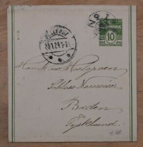 MayfairStamps Denmark 1924 to Baden Germany Used Stationery Wrapper wwp83309