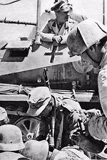 WW2 - Rommel sur son blindé de commandement en AFN en 1941