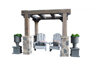 MiniMolly Dollhouse 1:6 Barbie Size BUNDLE Garden Pavilion Outdoor Furniture