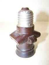 Antique Bakelite Lamp Socket with , Art Deco Bauhaus Design