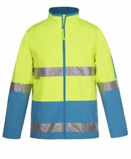 Jb's Hi Vis Softshell Safety Jacket Water Proof internal mobile pocket 3M tape