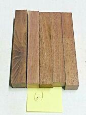 5 Pieces Of 00006000  Black Walnut~Exotic Wood~Pen Blanks~Exotic Lumber #61