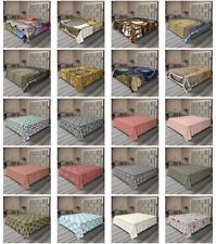 Ambesonne Moroccan Folk Flat Sheet Top Sheet Decorative Bedding 6 Sizes