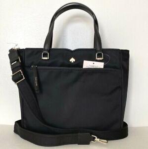 New Kate Spade New York Jae Medium Satchel Nylon handbag Black