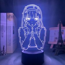 Anime 3d Lamp Zero Two Figure Nightlight Kids Child Girls Bedroom Decor Light (: