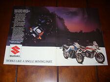 1985 SUZUKI GS 550 / GS 700  ***ORIGINAL 2 PAGE AD***