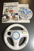 Mario Kart Wii Complete W/ Manual & Steering Wheel - Nintendo Wii Game - Tested!