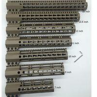 7''9''10''11''12''13.5''15'' Tan/FDE Clamp Slim Free Float Handgurad Rail System