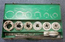 """Greenlee M-12GR Aluminum Drop Head 1/2""""-2"""" Die Set Pre-owned w/ Case"""