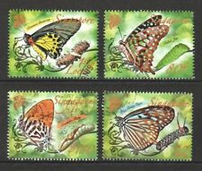SINGAPORE 2010 BUTTERFLIES COMP. SET OF 4 STAMPS IN FINE USED CONDITION