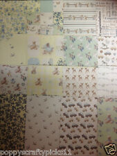 16 SHEET TASTER 6 x 6 FIRST EDITION IT'S A BOY BABY CARD MAKING BACKING PAPER