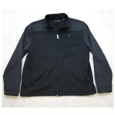Large Greg Norman Black Athletic Jacket Coat Long Sleeve Zipper Front Mans Men's