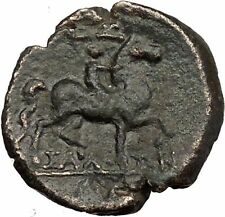 Larissa Thessalian League UNPUBLISHED 196BC  Greek Coin Athena Horse i37815