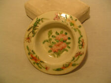 Salt dish, Hand painted Roses,Turn of the Century, Marked, Vintage Serving Piece