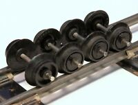 Lot of 4 S Scale Replacement Wheel Sets for Freight Cars