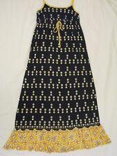 Juicy Couture 'Jackie' Maxi Dress Sz M - Navy Blue Print - Beautiful & Rare
