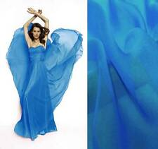 4Yds silk chiffon Fabric Cloth 140cm wide Sheer BATIK BLUE Online Sale #17 Cool