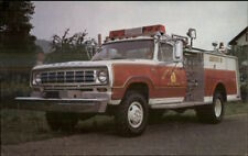 Hyde Park MA or NY? Fire Truck Hamerly Advertising Postcard