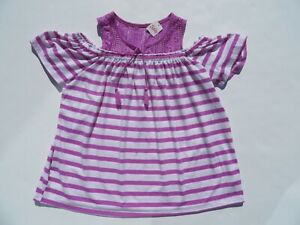 JUSTICE Shirt Top NEW 14-16 Blouse Girls Tank-Top Purple Stripes NWT