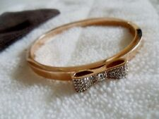 Kate Spade New York Ready Set Bow Clear/ Rose gold Bangle