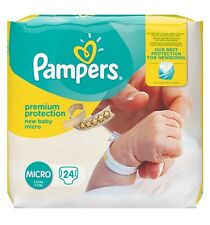 144 Nappies Premium Protect Pampers Micro Size 0 Newborn New baby Monthly Pack