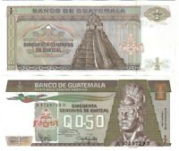 GUATEMALA 1/2 0.50 QUETZAL 1987 PICK 65 UNC