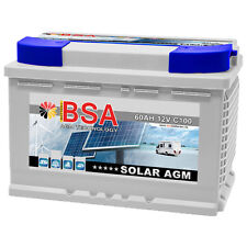 BSA Solarbatterie 60ah 12v AGM Gel USV Batterie Versorgungsbatterie Wohnmobil