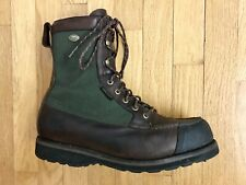 Irish Setter WINGSHOOTER 846 Brown Leather Green Cordura Gore Tex Boots Mens 12