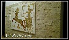 Flachrelief Ägyptisches Relief groß Agypten Stuck gips Skulptur Wandrelief Bild
