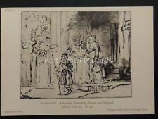 Drawings by Rembrandt ABRAHAM DISMISSING HAGAR & ISHMAEL British Museum