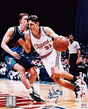 Brent Barry Signed Official NBA Los Angeles Clippers 8x10 Photo PSA Authenticatd