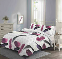 Winter Collection Printed Duvet Cover Elephant Feather Floral Single Double King