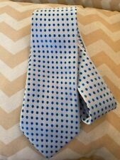 "Giorgio Armani 100% Silk Tie 64"" Blue Dotted Handmade"