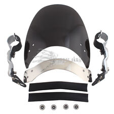 Windscreen Windshield For Harley Dyna Wide Super Low Glide XL883 1200 BLK Custom