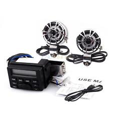 Audio Sound System Stereo Speakers FM Radio For Motorcycle ATV UTV MP3 iPod