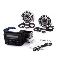 Audio Sound System Stereo Speakers FM Radio For Motorcycle ATV UTV MP3 iPod
