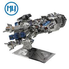 MU 3D Metal Nano Puzzle Starcraft Battle Cruiser Model Kit DIY 3D Laser Cut Toys