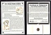 Roman Emperor Nero's Bronze Prutah Coin by Festus,Album,Story & Certificate