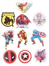 Marvel Comics Heroes Avengers LOGO Vinyl Stickers Decals 10 Piece Set NEW