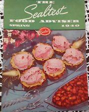 Vintage Sealtest Food Adviser Spring 1940 Recipes Cookbook