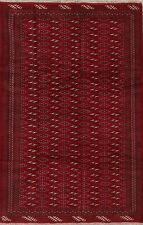 6x9 Geometric Turkoman Oriental Area Rug Wool Hand-Knotted All-Over Carpet