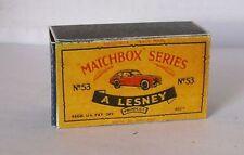 Repro Box Matchbox 1:75 Nr.53 Aston Martin älter