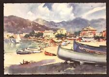 Sestri Levante ( Genova ) : Spiaggia - dis. Aldo Raimondi - anni '50