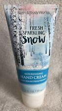New Bath & Body Works Fresh Sparkling Snow Nourishing Hand Cream Lotion 2 Oz