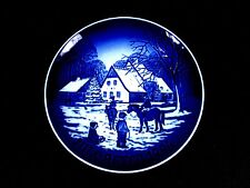 "Mint 1994 Bing & Grondahl "" A DAY AT THE DEER PARK "" Denmark Blue 7.5"" Plate"