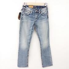 Silver Jean Co Juniors 26x31 Denim Blue Jeans Suki High Rise Relaxed Light New