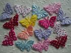 50 fabric BUTTERFLIES FB1PD Scrapbooking Card Sewing HAIR CLIP embellishments
