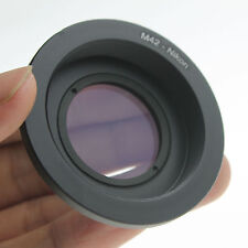 M42 Lens to NIKON AI F Mount Adapter w/ Infinity focus Glass for D90 D80 D700 D3