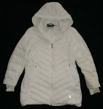 Women's SPYDER Boundless White Quilted Mid Length Winter Coat Sz L