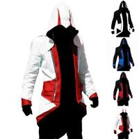 Cool Stylish Creed Hoodie Men's Cosplay For Assassins Jacket Coat Costume .